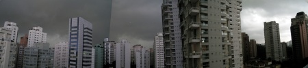 view from apartment in Vila Nova (a wealthier barrio in the southwestern part of Sao Paulo)