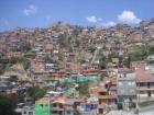 View of informal settlements in Medellin