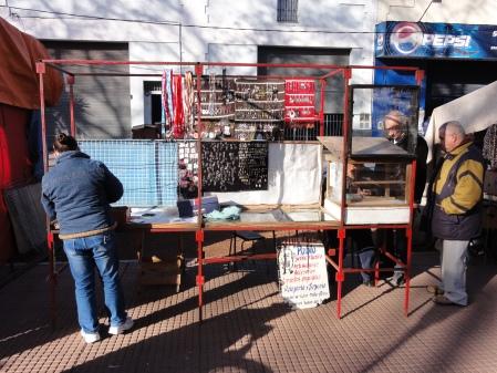Don Pablo's stand in a market in La Boca. (J.Renteria)