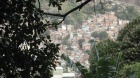 A view from the Parque Ecológico da  Rocinha onto Dois Irmãos Moutain's northwest flank.