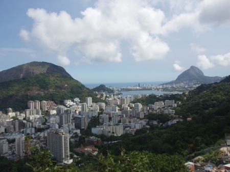 Sugar Loaf Mountain, and Guanabara Bay as seen from Favela Santa Marta.