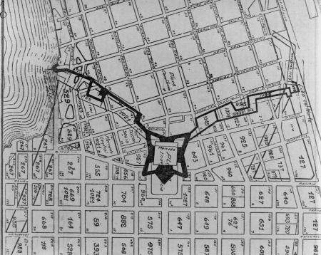 An example of urban planning through the Laws of Indies: Montevideo in the 1770; source: uruguayeduca.edu.uy