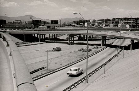 Downtown El Paso, construction of roads and highways, source: interne;