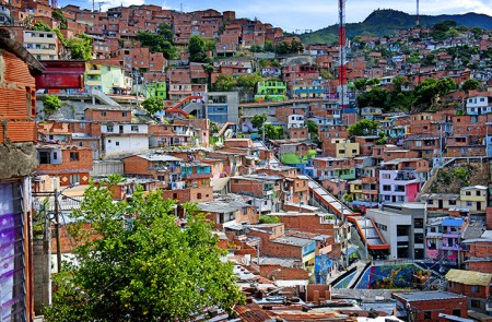 Medellin's escalators; source: The Guardian