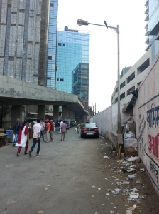 Access Road to the Elphinstone Road railway station, Mumbai