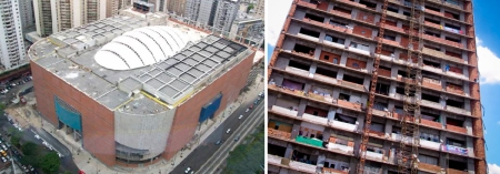 Mall and Office buildings used as emergency dwellings