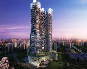 One Avighna Park, a 3-D graphic simulation, Lalbaug, Parel, Mumbai