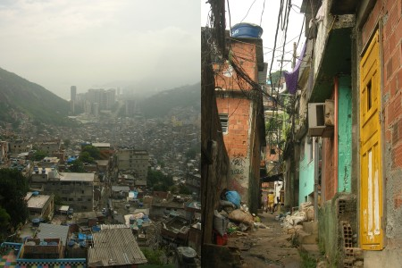 "Figure 2 ""city of serviced and city of servants"". a look at a typical ""favela"" from within in Rio. Credits: Image of Tal Sustiel"