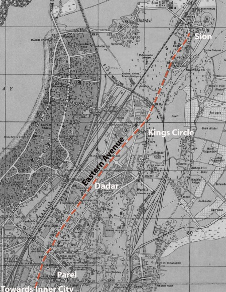 The Eastern Avenue on the Map of 1933. Connecting the Inner City to the Suburbs,