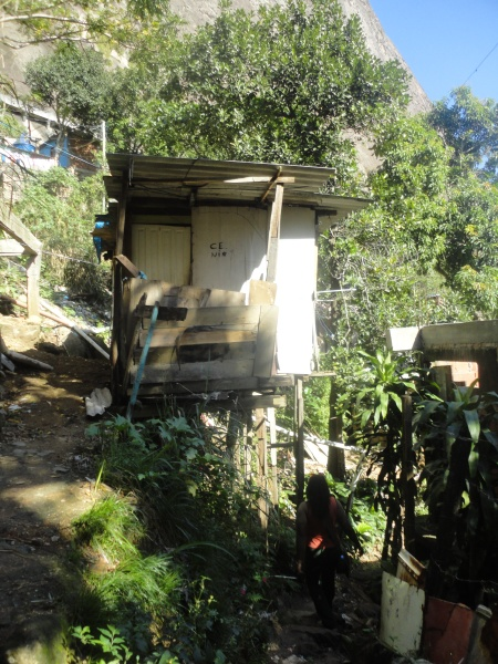 It is likely that this home has been referred to as a barraco, Roupa Suja area, Rocinha, Rio de Janeiro