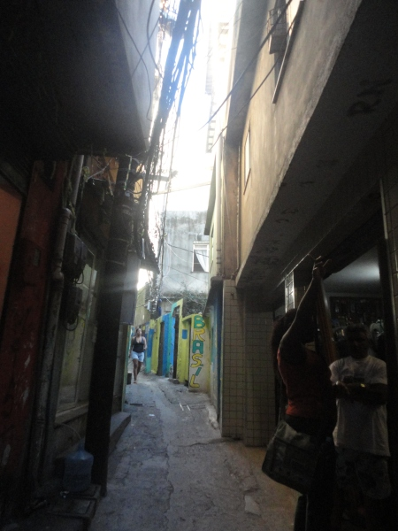 A beco in the area of Rua 3, Rocinha, Rio de Janeiro