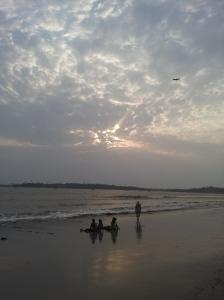 Monsoon weekend sunset in Mumbai