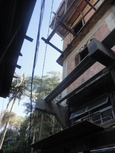 Construction is a consistent presence in any favela, especially autoconstrucion such as this home addition in Vila Verde, Rocinha, Rio de Janeiro.