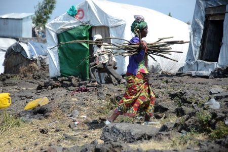 Mugunga Refugee Camp, North Kivu, The Democratic Republic of the Congo