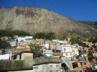 Flying kites under Two Brother Mountain, Rocinha, Rio de Janeiro