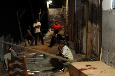Favela em sao paulo depois de chasina que matou 6 pessoas.