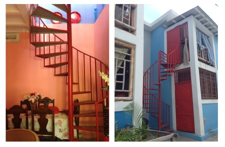 Image 6 Interior and Exterior spiral staircases in Morne Hercule and Morne Lazarre