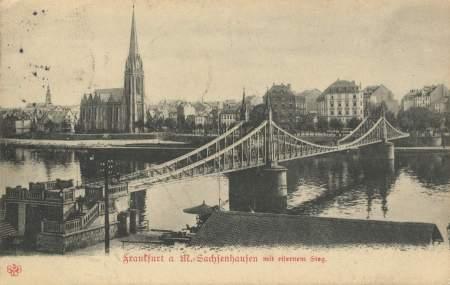 Frankfurt_Eiserner_Steg_Alt_Sachsenhausen_Brücke_1905