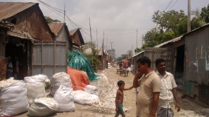 Recycling sheds, Tongi, Gazipur, Bangladesh; photo credit: Lubaina Rangwala