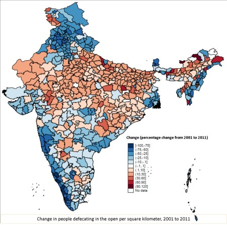 Change in Open-Defecation from 2001-2011